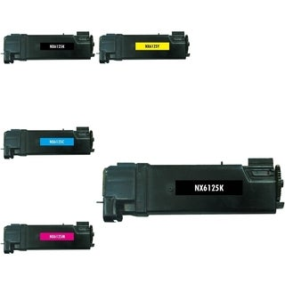 Insten Premium 2BCMY Color Toner Cartridge 106R01334/ 106R01333/ 106R01332/ 106R01331 for Xerox Phaser 6125
