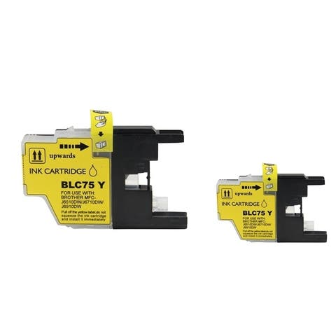 Refilled Insten Yellow Non-OEM Ink Cartridge Replacement for Brother LC75Y/ LC71Y