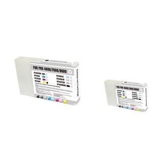 INSTEN Epson T543400 2-ink Yellow Cartridge Set (Remanufactured)