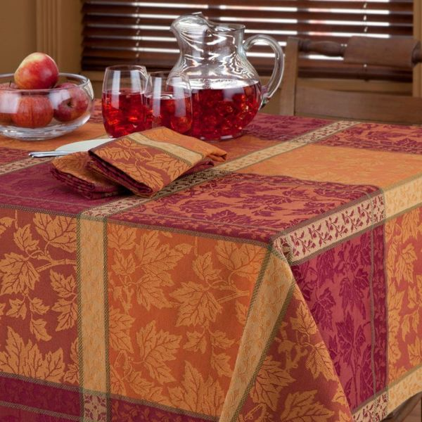 Bardwil montvale woven jacquard tablecloth free shipping for Tablecloth 52 x 120