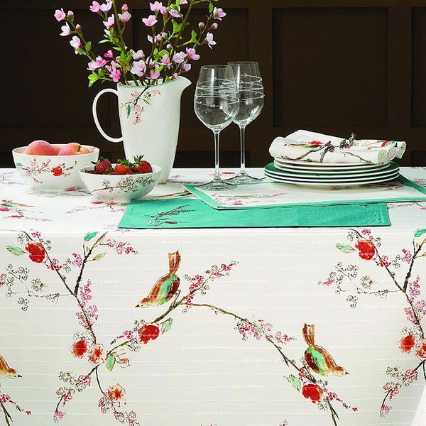 Shop Lenox Chirp Stain Resistant Tablecloth Free