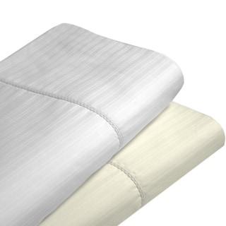 Dobby Stripe Cotton 475 Thread Count Hemstitched Extra Deep Pocket Sheet Set