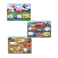 Melissa & Doug Peg Puzzle Boy Bundle (Set of 3)