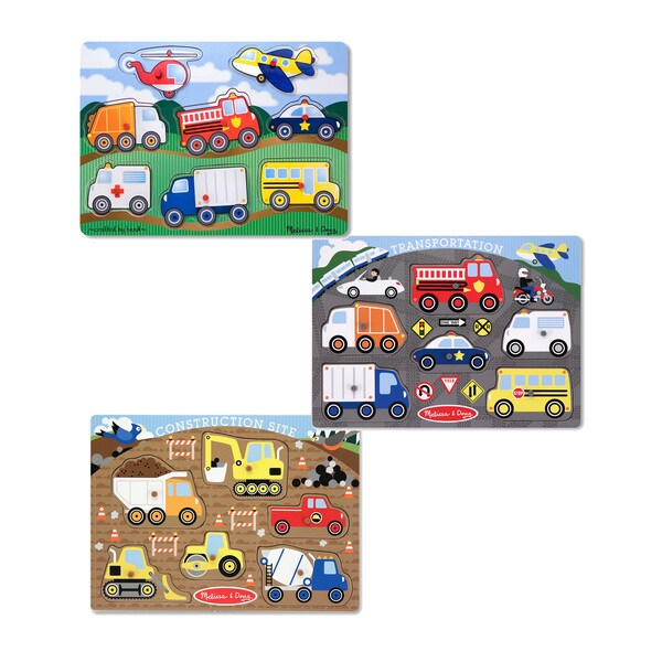 926c2b6cb3 Shop Melissa   Doug Peg Puzzle Boy Bundle (Set of 3) - Free Shipping On  Orders Over  45 - Overstock.com - 8381740