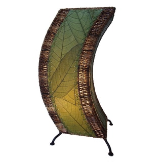 Handmade Green C-shape Lamp (Phillipines)