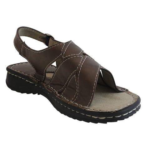 Womens Brown Back Strap Comfort Sandals