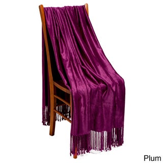Strick & Bolton Elmer Rayon from Bamboo Throw (Option: Plum)