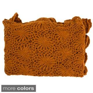 Scallop Edged Hand Crocheted Throw
