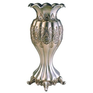 Traditional Royal Silver/ Gold Metallic Decorative Vase