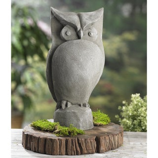 Owl 15-inch Resin Garden Statue