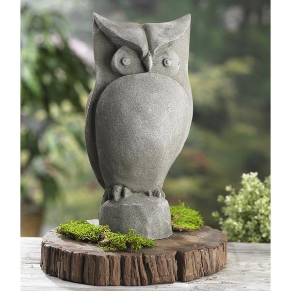 Owl 15 Inch Resin Garden Statue