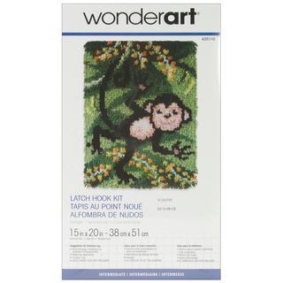 Wonderart Latch Hook Kit 15 X20 - Swingin'
