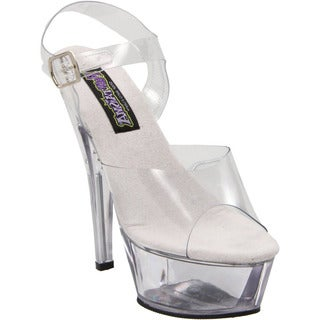 Funtasma Women's 'Brook-208' Clear 6-inch Lucite Heels