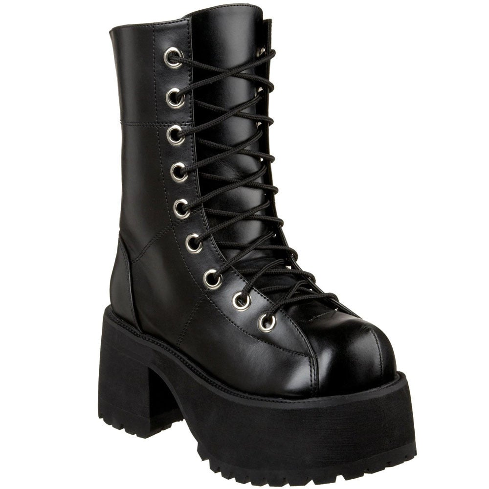 Demonia Women's 'Ranger-301' Black Lace-up Mid-calf Boots...