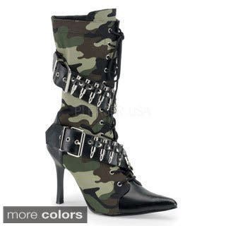 Funtasma Women's 'Militant-128' Black Lace-up Bullet Military Boots|https://ak1.ostkcdn.com/images/products/8382156/P15686072.jpg?impolicy=medium