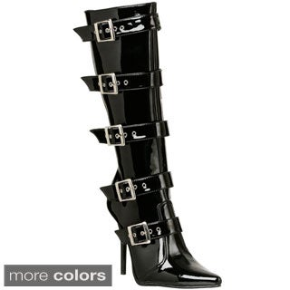 Pleaser Women's 'Milan-2015' Buckled Knee-high Boots