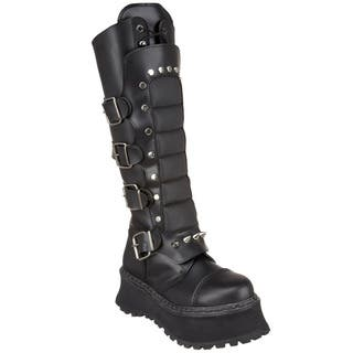 Demonia Men's 'Ravage-11' Black Knee-high Warrior Boots|https://ak1.ostkcdn.com/images/products/8382162/8382162/Demonia-Mens-Ravage-11-Black-Knee-high-Warrior-Boots-P15686077.jpg?impolicy=medium