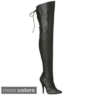 Pleaser Women's 'Legend-8899' Thigh-high Lace Back Stiletto Boots