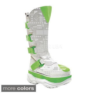 Demonia Men's 'Neptune-3090UV' Reactive Circuit Board Knee-high Boots
