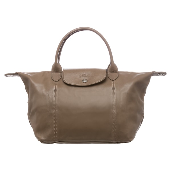 Shop Longchamp  Le Pliage Cuir  Small Clay Leather Handbag - Free ... 40fcaf005e