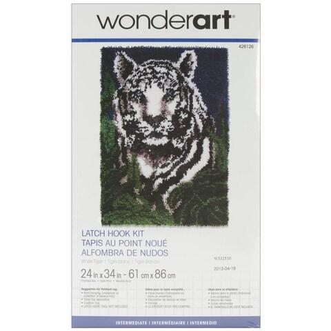 Wonderart Latch Hook Kit 24 X34 - White Tiger