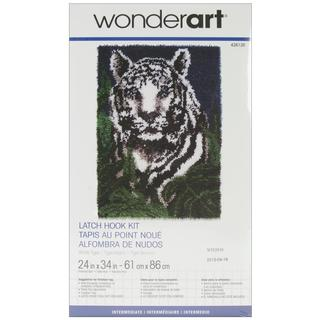 Wonderart Latch Hook Kit 24 X34 - White Tiger