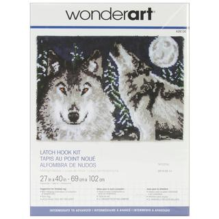 Wonderart Latch Hook Kit 27 X40  - Midnight Wolves