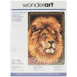 Wonderart Latch Hook Kit 27 X40  - Lion