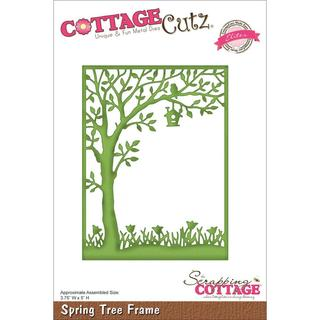 CottageCutz Elites Die - Spring Tree Frame