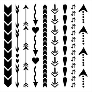 Crafter's Workshop Templates 12 X12  - Arrows And Hearts