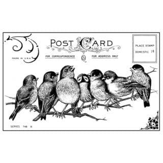 Crafty Individuals Unmounted Rubber Stamp 4.75 X7 Pkg - Seven Cheeky Songbirds