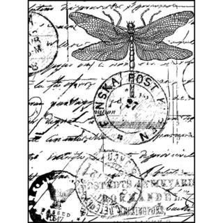 Crafty Individuals Unmounted Rubber Stamp 4.75 X7  Pkg - Dragonfly Post