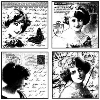 Crafty Individuals Unmounted Rubber Stamp 4.75 X7 Pkg - Love Letter Ladies