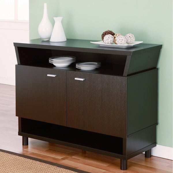 Furniture of America Modern Avant-garde 2-cabinet Dining Buffet Server