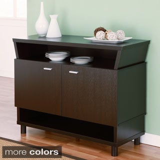 Image gallery dinner server for Furniture of america alton modern multi storage buffet espresso