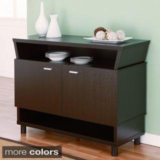 Furniture Of America Modern Avant Garde 2 Cabinet Dining Buffet Server
