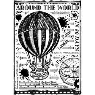 Crafty Individuals Unmounted Rubber Stamp 4.75 X7  Pkg - Around The World