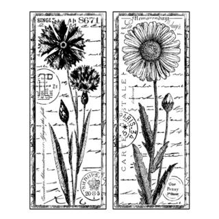 Crafty Individuals Unmounted Rubber Stamp 4.75 X7 Pkg - Tall Wild Flowers