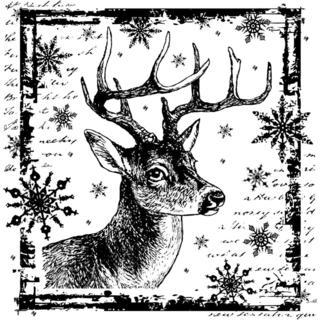 Crafty Individuals Unmounted Rubber Stamp 4.75 X7 Pkg - Snowflake Rudolph