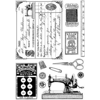 Crafty Individuals Unmounted Rubber Stamp 4.75 X7  Pkg - Sewing Notions