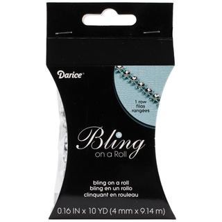 Bling On A Roll 4mm X 10yds - 1 Row, Black/Silver