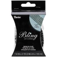 Bling On A Roll 4mm X 2yds - 6 Row, Black/Silver