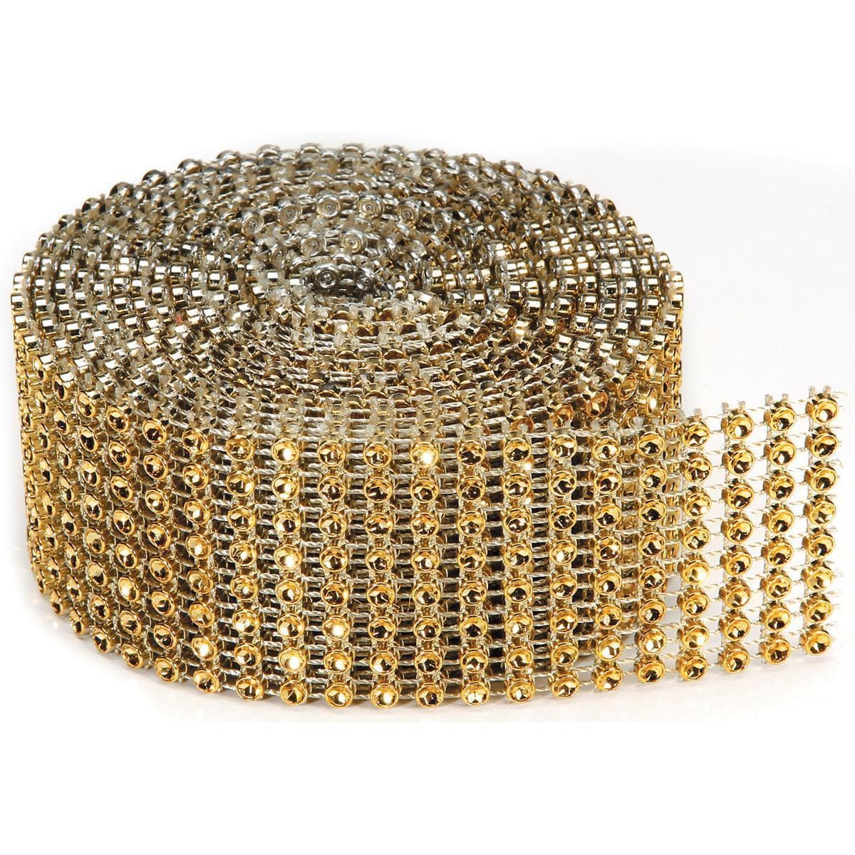 DARICE Bling On A Roll 3mm X 2yds - 8 Row, Gold