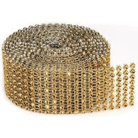 Bling On A Roll 3mm X 2yds - 8 Row, Gold
