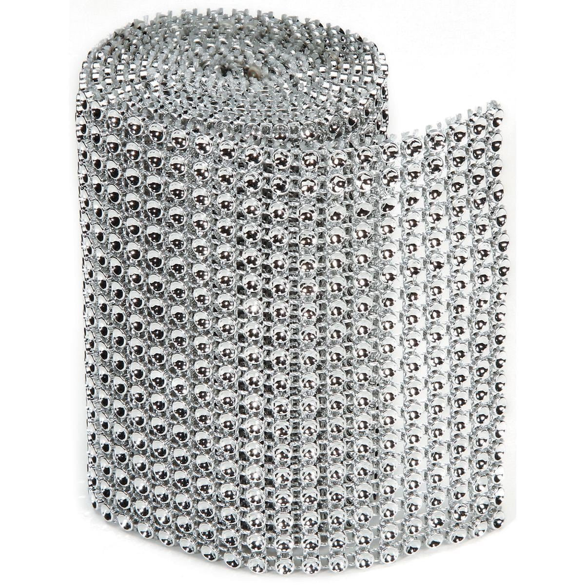 DARICE Bling On A Roll 3mm X 1yd - 18 Row, Silver, Gold