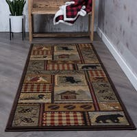 Alise Natural Brown Lodge Runner (2'7 x 7'3) - 2'7 x 7'3