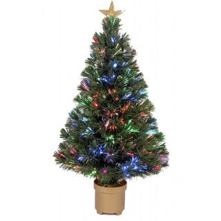 ez change fiber optic christmas tree 7 ft free shipping today 1006160. Black Bedroom Furniture Sets. Home Design Ideas