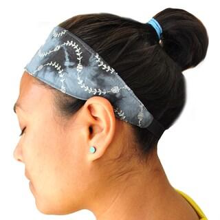 Handmade Embroidered Tie-dye Yoga Headband (Nepal)