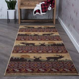 Alise Natural Red Lodge Runner (2'7 x 7'3)