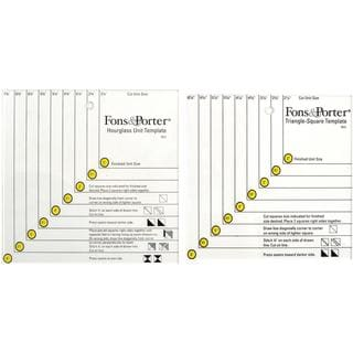 Fons & Porter Triangle Square And Hourglass Template -